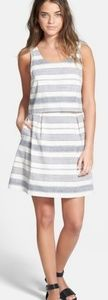 Madewell Stripe Overlay Dress